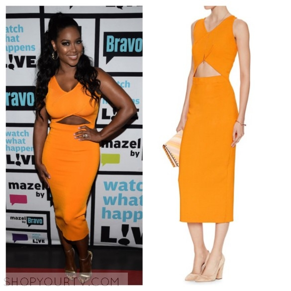Watch What Hens Live May 2016 Kenya S Orange Cutout Dress