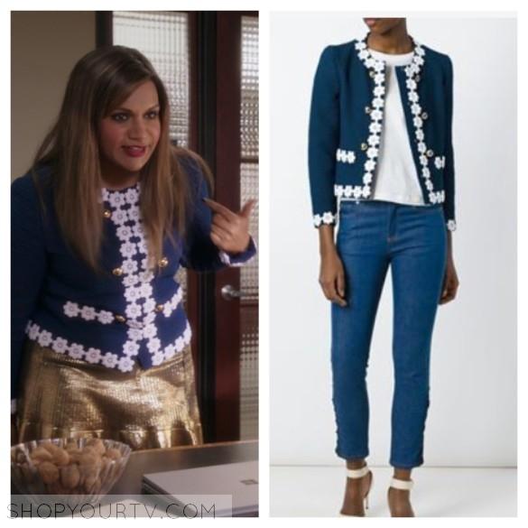 boutique moschino blue floral trim jacket