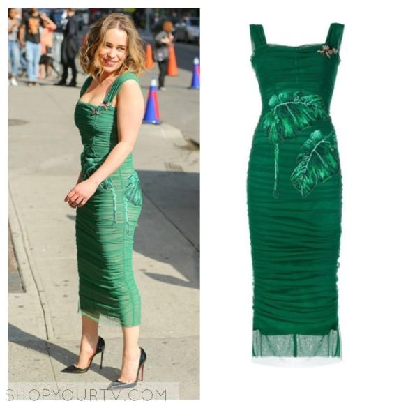 dolce and gabbana green dress
