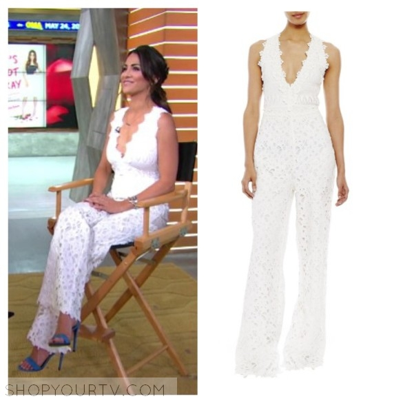 nicole miller white lace jumpsuit