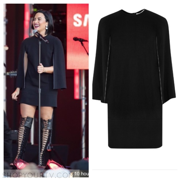 givenchy black cape dress