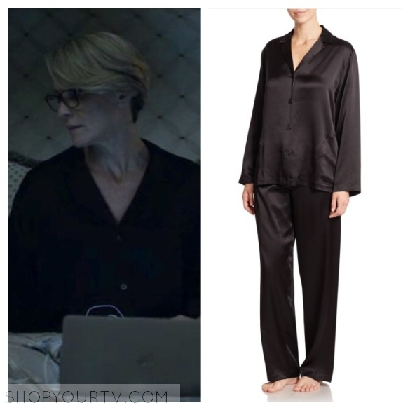 la perla black silk pajamas