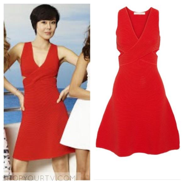 Jonathan Simkhai red cutout dress