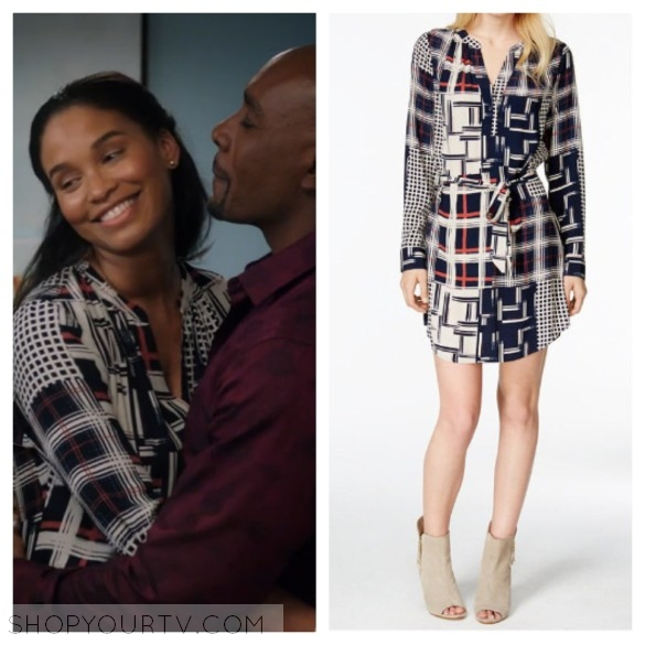 SANCTUARY CITY MIXED-PRINT SHIRTDRESS
