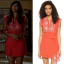 cece red embroidered dress