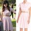 jess day pink check t shirt dress