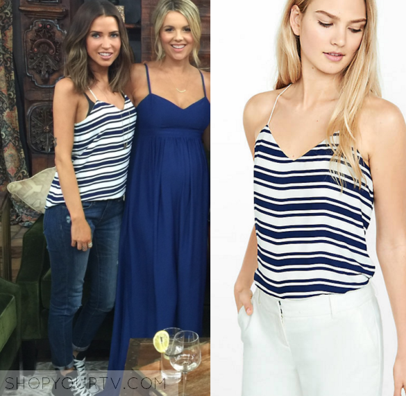 The Bachelorette Season 12 Episode 1 Kaitlyns Striped Cami Top