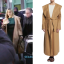 khloe brown drape coat
