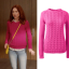 kimmy pink cable knit sweater