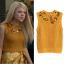 lauren yellow embellished sweater