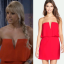 stephanie red strapless dress