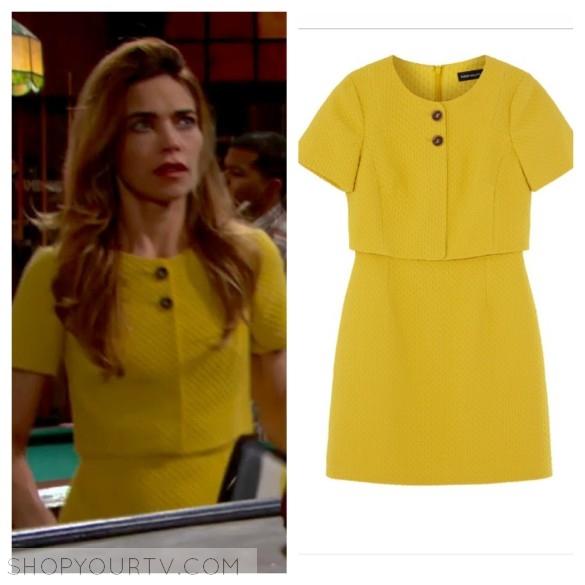 karen millen yellow dress