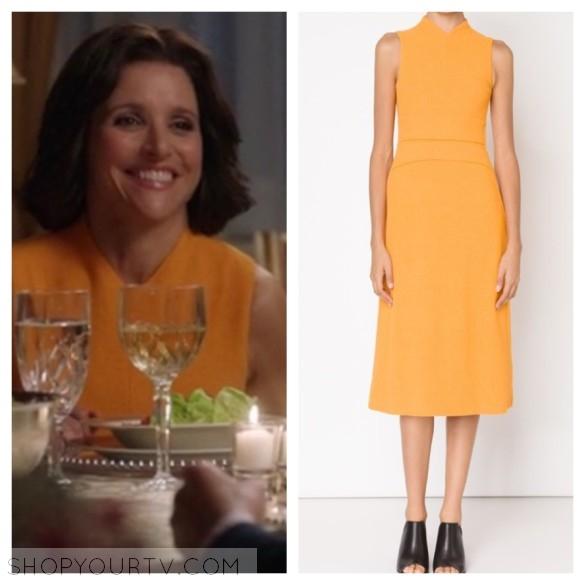 narciso rodriguez orange dress