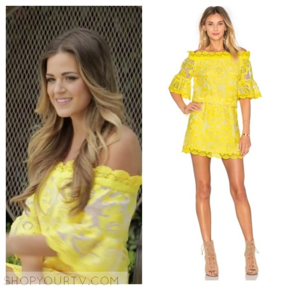 alexis kit yellow embroidery short dress