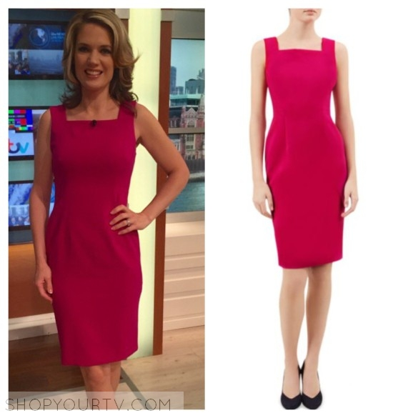 charlotte hawkins pink square neck dress hobbs london keara