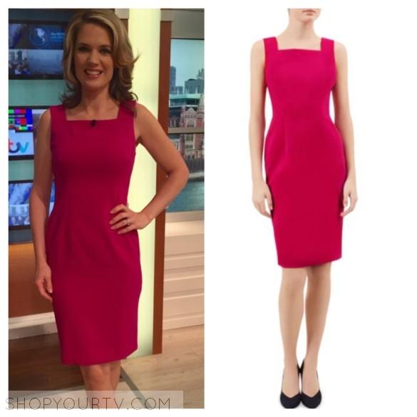 charlotte hawkins pink square neck dress hobbs london keara