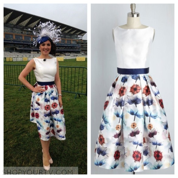 laura tobin floral dress good morning britain