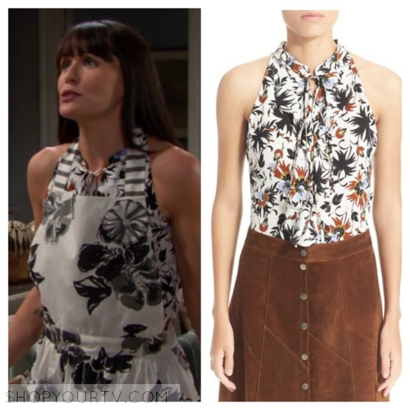 quinn fuller floral printed top the bold and the beautiful