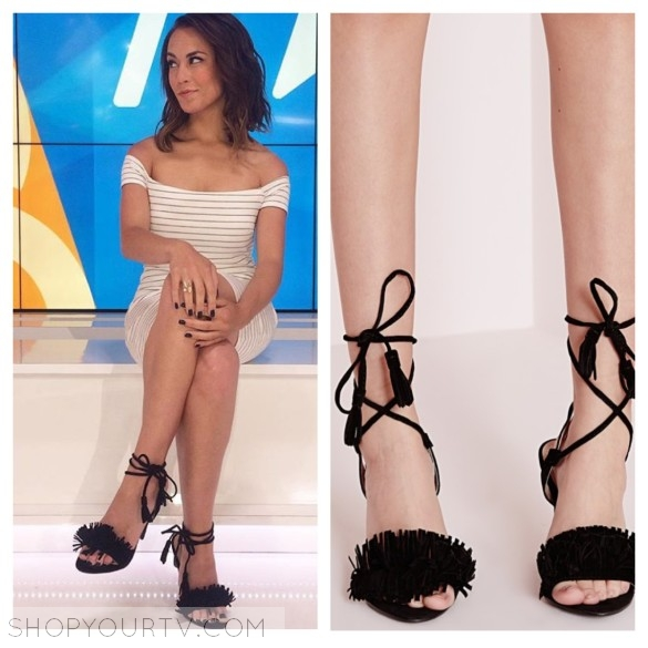alex hudgens black fringe tassel sandals