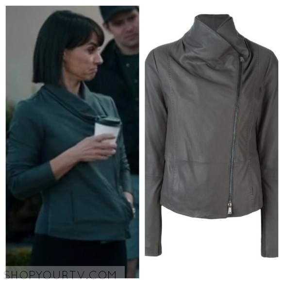 quinn king grey leather jacket unreal fashion style wardrobe clothes