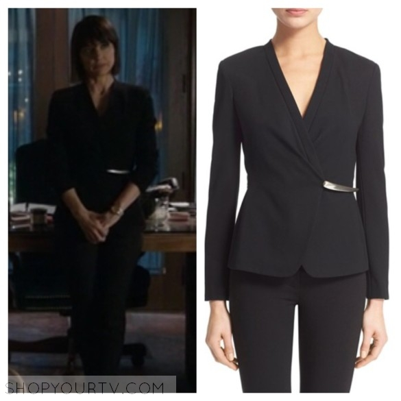 quinn's black blazer jacket unreal tv show style wardrobe outfit fashion clothes