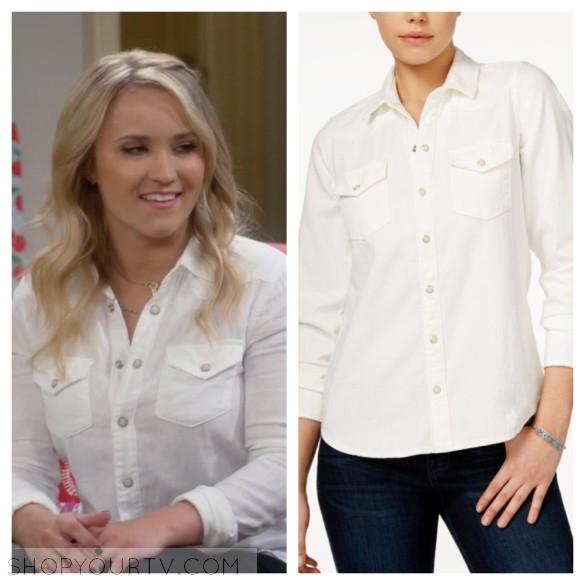 gabi diamond white button down shirt young and hungry