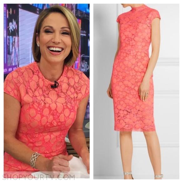 amy robach lace dress gma good morning america