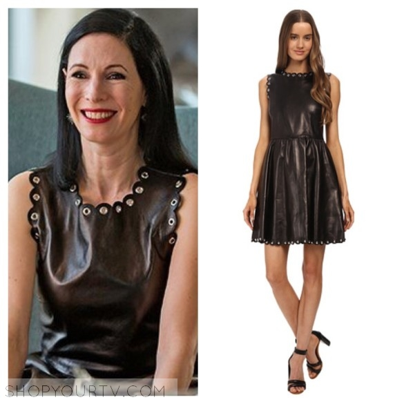 jill weber leather dress odd mom out
