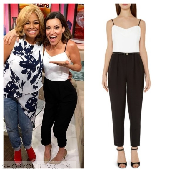 kit hoover black and white jumpsuit access hollywood