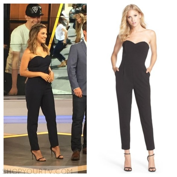 liz hernandez black strapless jumpsuit access hollywood