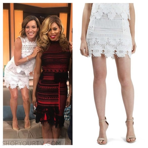 kit hoover white floral lace dress skirt access hollywood