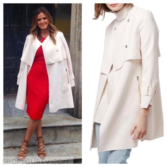 jojo fletcher pale pink coat the bachelorette