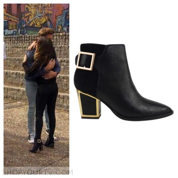 jojo fletcher black and gold buckle boots