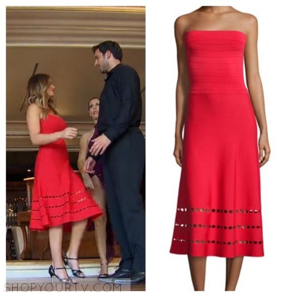 jojo fletcher red cutout dress the bachelorette