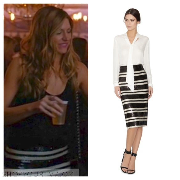 joss' black and white sequin striped skirt mistresses