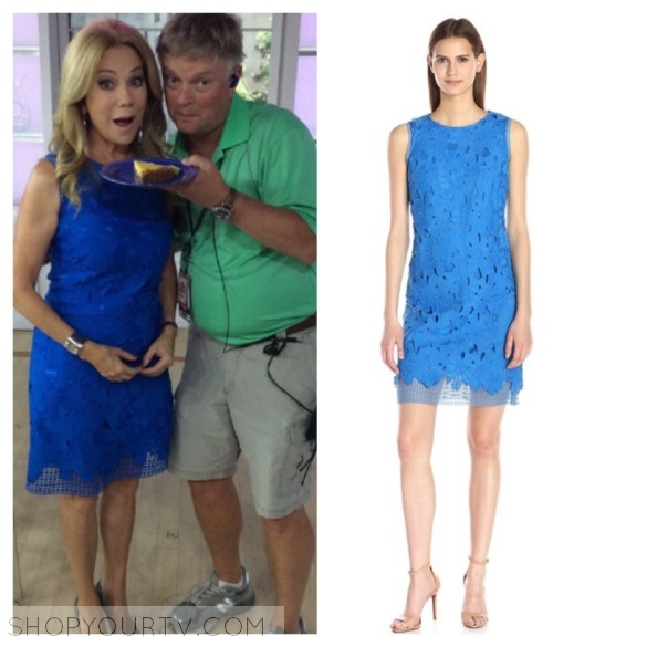 kathy lee gifford blue lace dress the today show