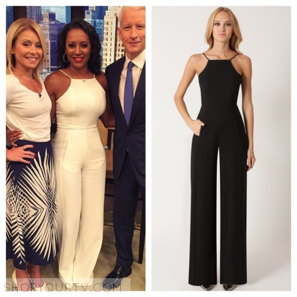 """mel b's halter jumpsuit """"live with kelly"""""""