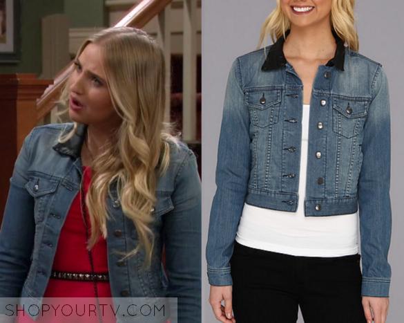 K C  Undercover: Season 2 Episode 4 Marisa's Leather Denim Jacket