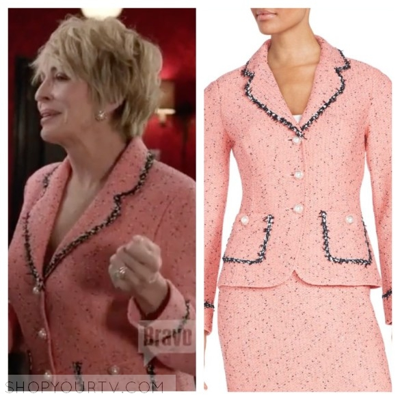 candace von weber pink tweed suit jacket odd mom out