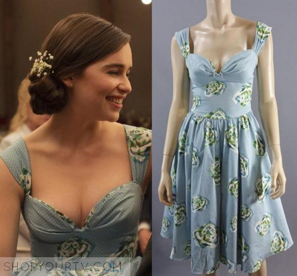 a12b1aa278f Me Before You  Lou s Blue Floral Print Dress