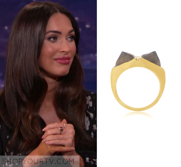 Conan: June 2016 Megan Fox's Brown Ring | Megan Fox