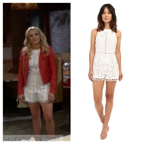 gabi diamond white lace romper young and hungry
