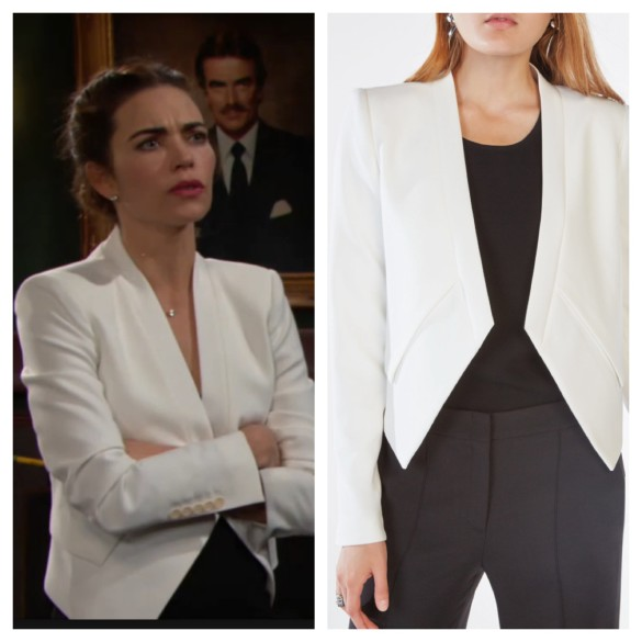 victoria newman white jacket the young and the restless