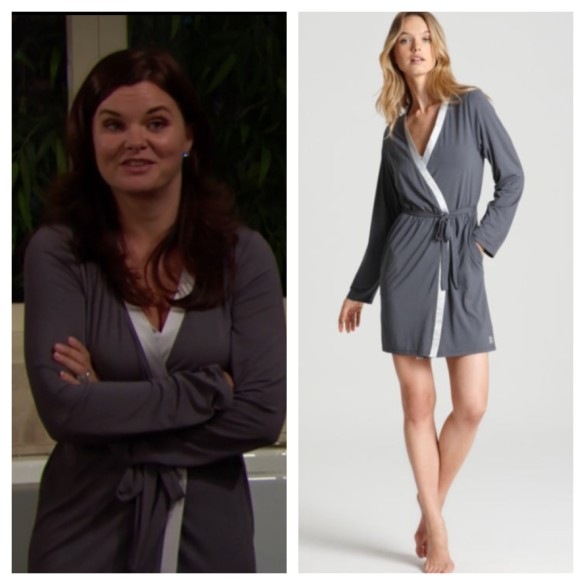 katie logan's grey robe the bold and the beautiful