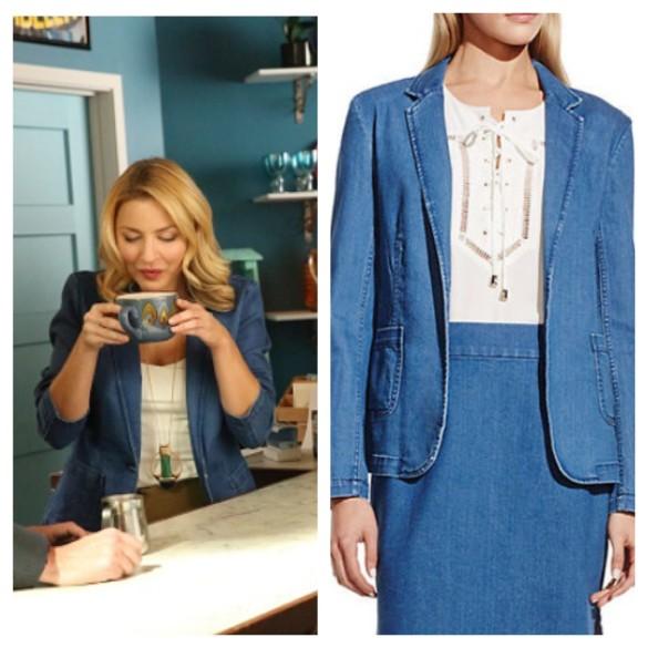 kate's denim blazer mistresses fashion wardrobe outfit