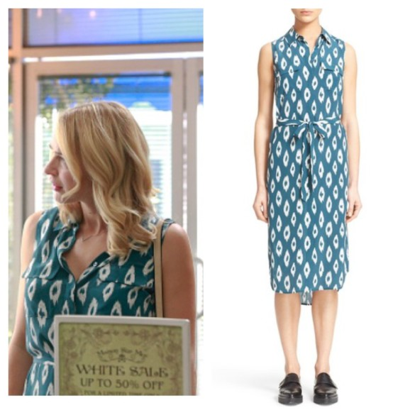 kate's teal printed shirtdress mistresses fashion style wardrobe