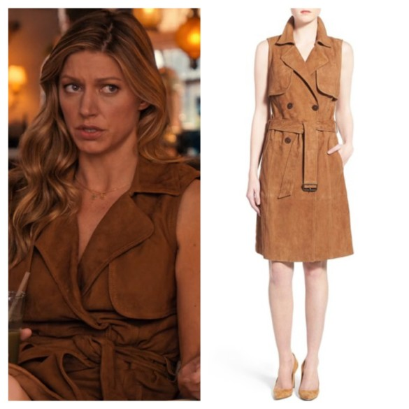 joss carver's brown trench dress