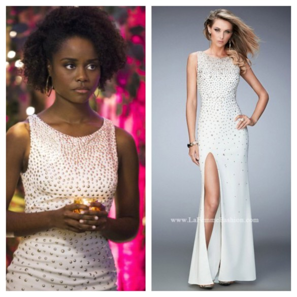 ruby carter unreal white studded gown