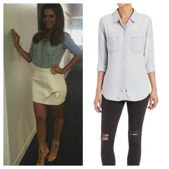 maria's chambray shirt, E! News