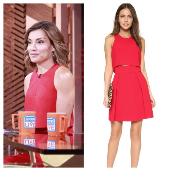 kit hoover's red dress, access hollywood